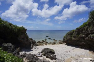 ビオテラスのすぐそばの穴場ビーチ