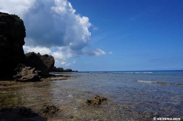 無人島の外洋側