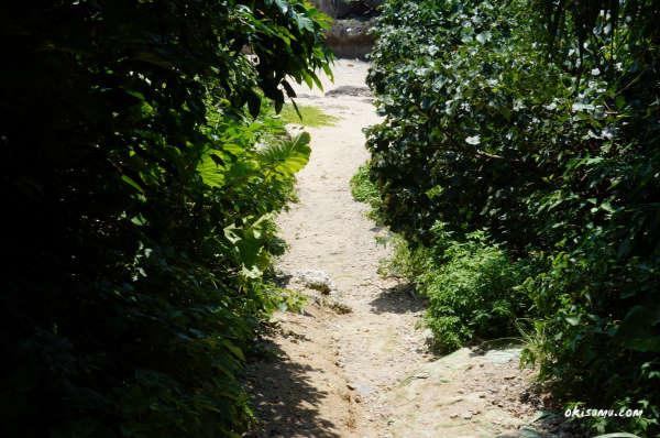 裏真栄田岬の入口