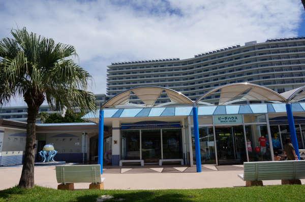 エメラルドビーチのシャワー