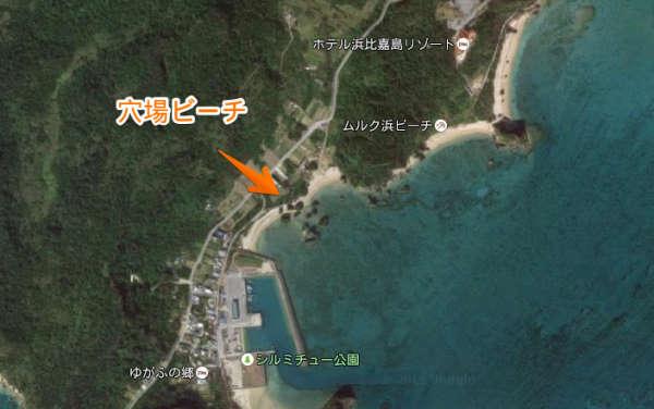 浜比嘉島 穴場ビーチの地図