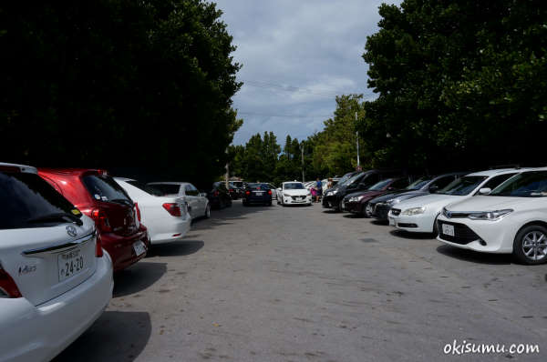 備瀬のフクギ並木の駐車場