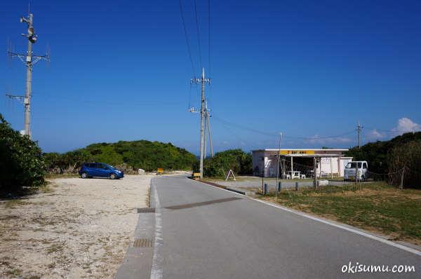 トケイ浜の駐車場
