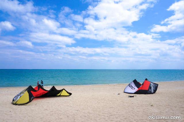 百名ビーチ カイトサーフィン